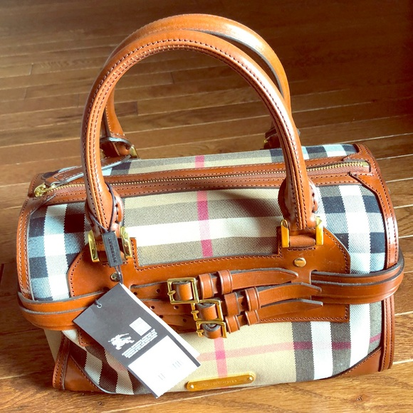 5d1c9abec54 Burberry Bags | Bridle House Check Med Alchester Bowling | Poshmark